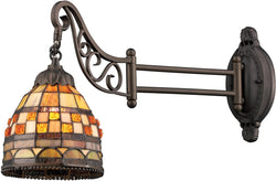 Elk Lighting Mix-N-Match 1-Light Swing Arm Sconce Tiffany Bronze 079TB10