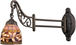 Elk Lighting Mix-N-Match 1-Light Swing Arm Sconce Tiffany Bronze 079TB13