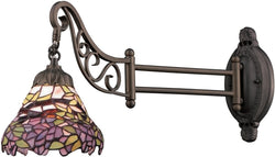 Elk Lighting Mix-N-Match 1-Light Swing Arm Sconce Tiffany Bronze 079TB28