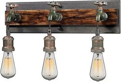 "19""w 3-Light Wall Sconce Weathered Bronze"
