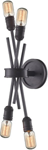 "5""w 4-Light Wall Sconce Oil Rubbed Bronze"