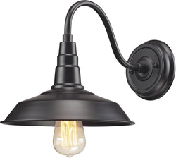 Elk Lighting 10 inchw 1-Light Wall Sconce Matte Black 669551