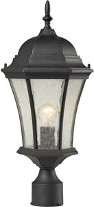 Elk Lighting Wellington Park 1 Light Outdoor Post Light Weathered Charcoal 450541