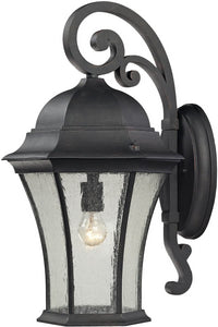 Elk Lighting Wellington Park 1-Light Outdoor Wall Light Weathered Charcoal 45052/1