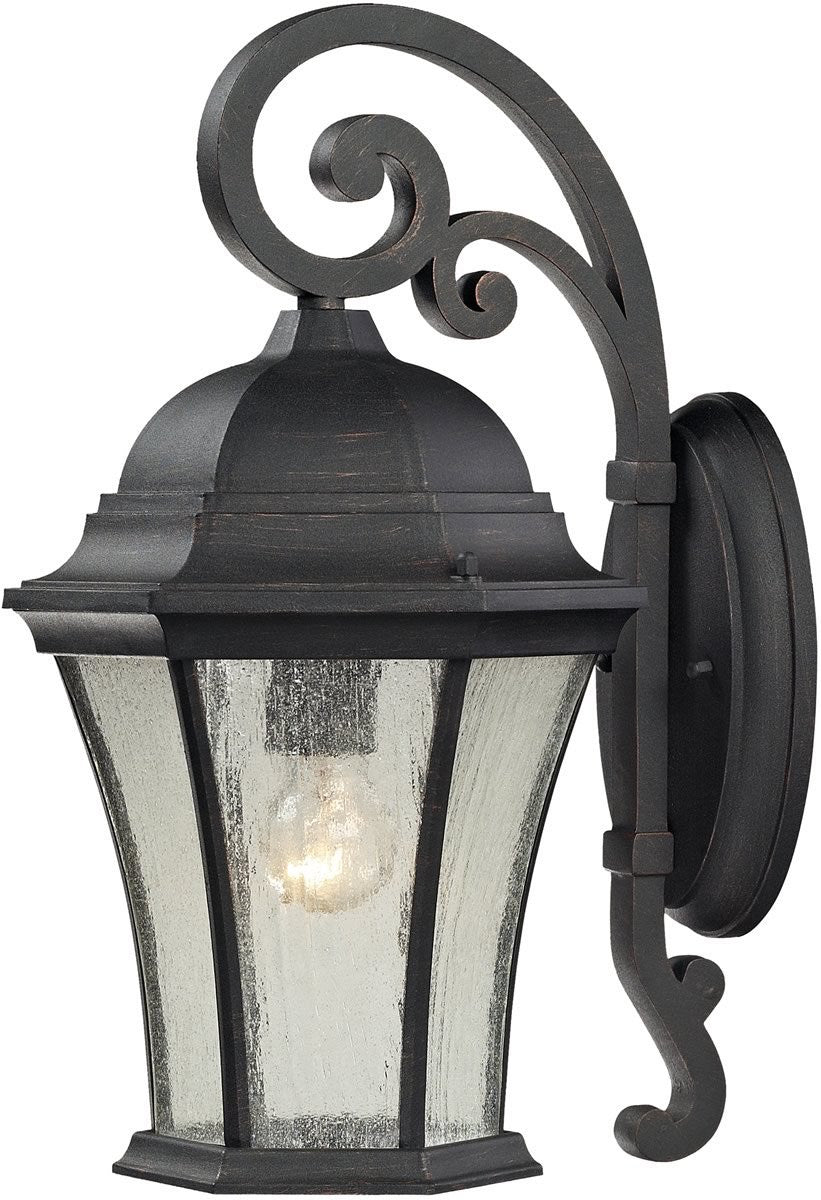 "17""H Wellington Park 1-Light Outdoor Wall Sconce Weathered Charcoal"