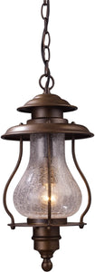"8""w Wikshire 1-Light Outdoor Pendant Coffee Bronze"