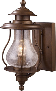 Elk Lighting Wikshire 1-Light Outdoor Wall Mount Coffee Bronze 620051