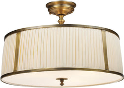 "20""w Williamsport 4-Light Semi Flush Vintage Brass Patina"