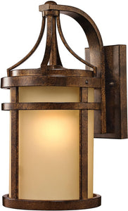 Elk Lighting Winona 1-Light Outdoor Wall Light Hazelnut Bronze 45097/1