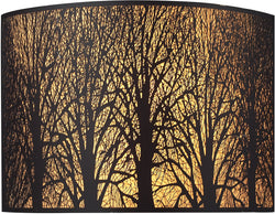 Elk Lighting Woodland Sunrise 2-Light Wall Sconce Aged Bronze with Cream Glass 310702