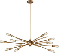 Xenia 10-Light Chandelier Matte Gold
