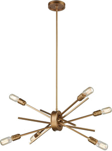 Xenia 6-Light Chandelier Matte Gold
