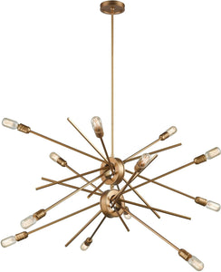Elk Lighting Xenia 12-Light Chandelier Matte Gold 6697512