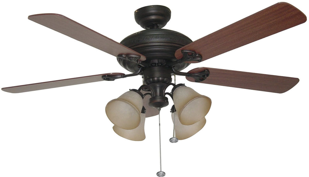 Beaufort 4 Light Ceiling Fan Aged Bronze
