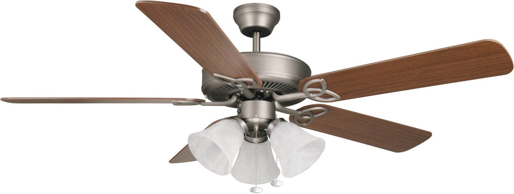 "52""W Builder Deluxe 3-Light Ceiling Fan Antique Nickel"