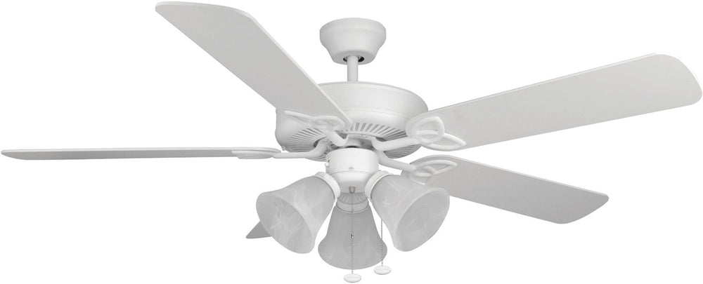 "52""W Builder Deluxe 3-Light Ceiling Fan Matte White"