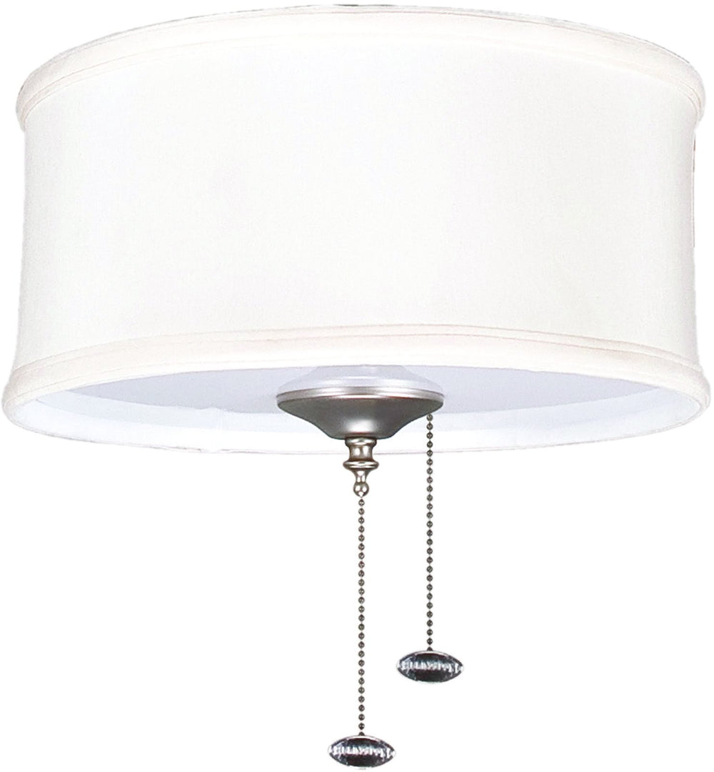 2-Light Ceiling Fan Light Kit Bradley Creme