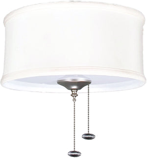 "8""W 2-Light Ceiling Fan Light Kit Bradley Creme"