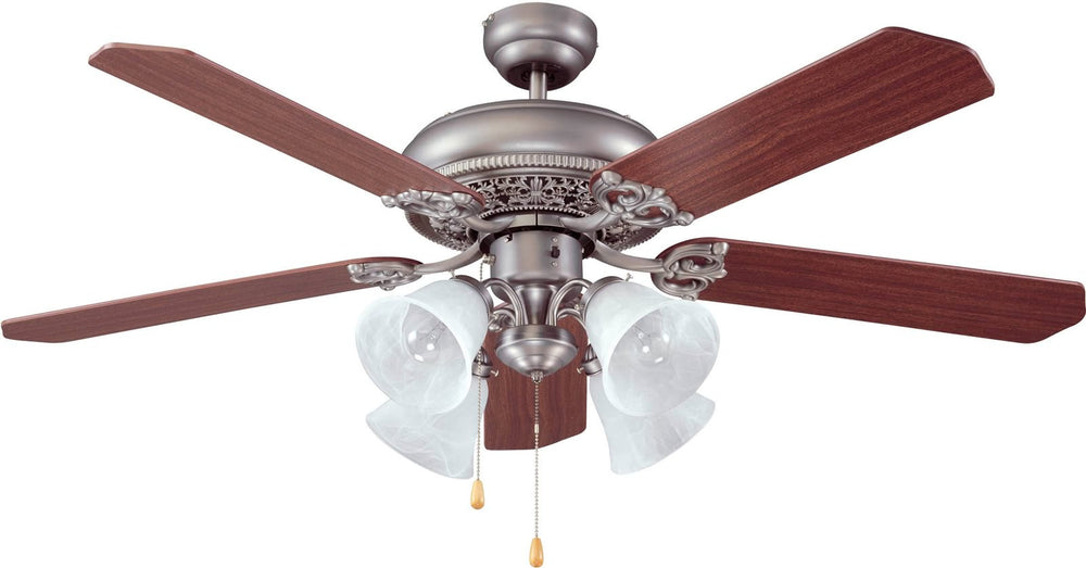 Craftmade manor ceiling fan antique e man52an5c4 lampsusa manor 4 light ceiling fan antique nickel aloadofball Gallery