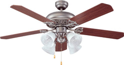 Ellington Fans Manor 4-Light Ceiling Fan Antique Nickel EMAN52AN5C4