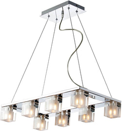 "24""w Blocs 8-Light Pendant Polished Chrome"