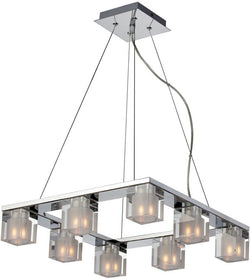 ET2 Blocs 8-Light Pendant Polished Chrome E2203718