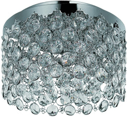 "15""w Dazzle 4-Light Flush Mount Polished Chrome"
