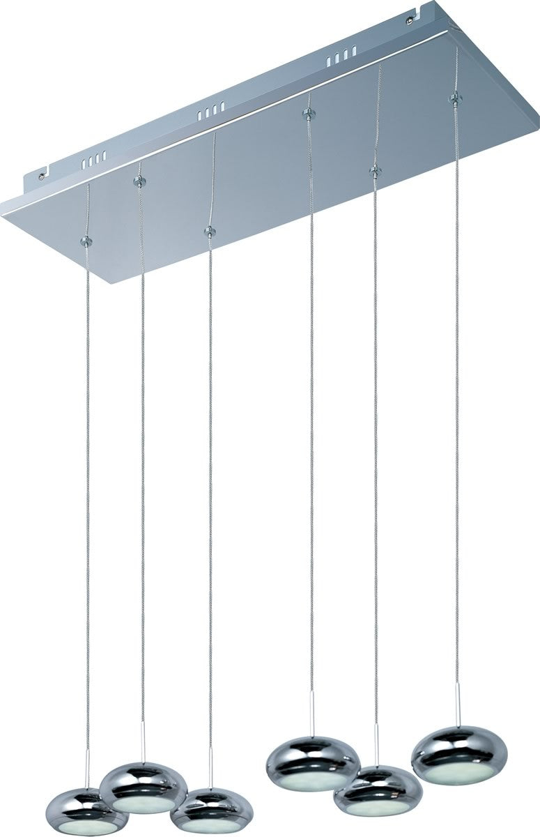 Dial 6-Light Linear Pendant Polished Chrome