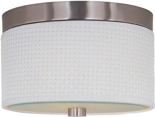 "10""w Elements 2-Light Flush Mount Satin Nickel"