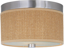 ET2 Elements 2-Light Flush Mount Satin Nickel E95000101SN