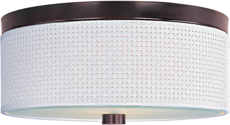 "14""w Elements 2-Light Flush Mount Oil Rubbed Bronze"