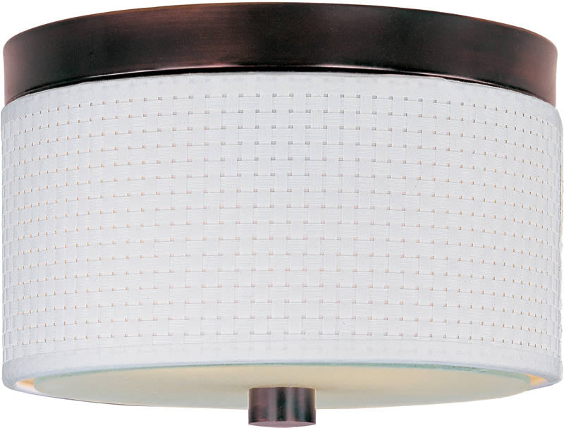 "10""w Elements 2-Light Fluorescent Flush Mount Oil Rubbed Bronze"