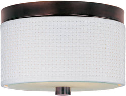 ET2 Elements 2-Light Fluorescent Flush Mount Oil Rubbed Bronze E95100100OI