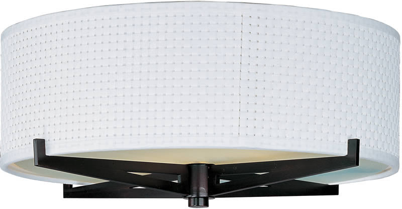 "16""w Elements 3-Light Fluorescent Flush Mount Oil Rubbed Bronze"