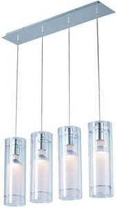 ET2 Frost Halogen 4-Light Pendant Polished Chrome E2200110
