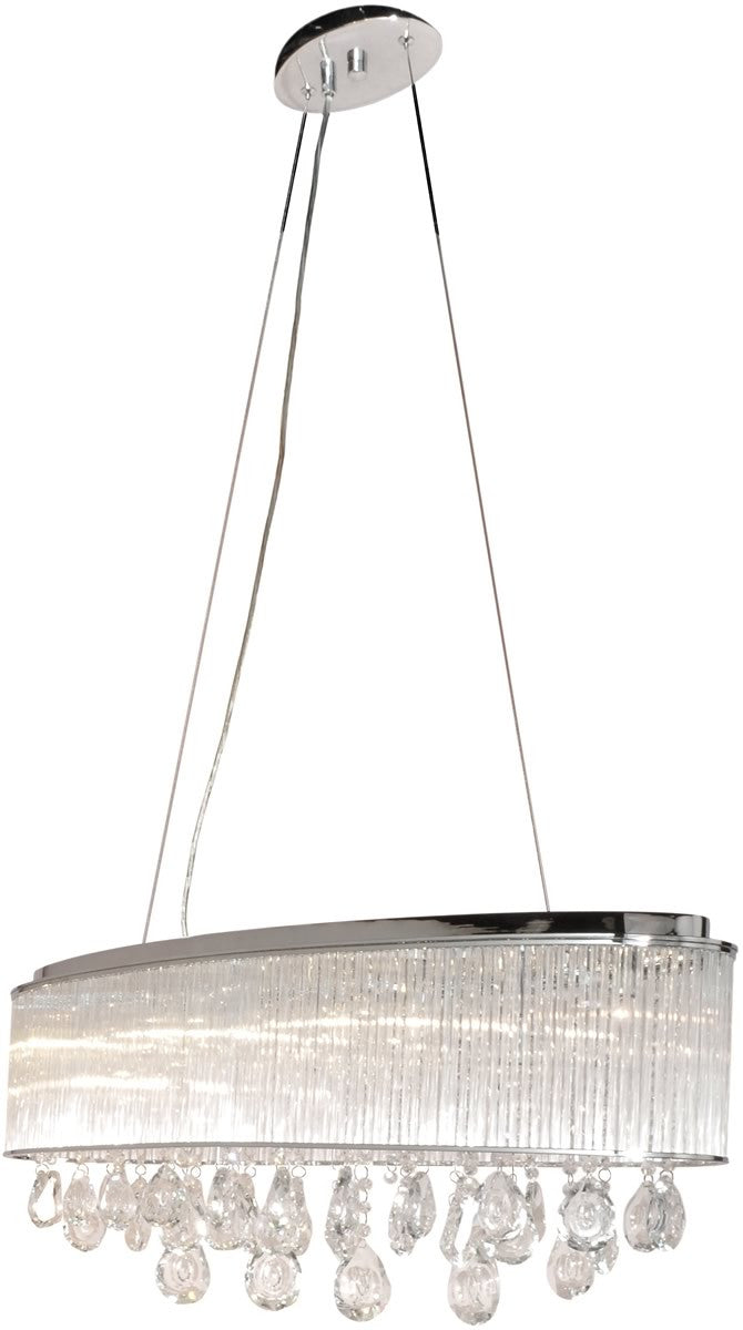 "31""W Gala 7-Light Single Pendant Polished Chrome"