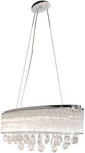 ET2 Gala 7-Light Single Pendant Polished Chrome E2229818PC
