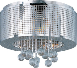 ET2 Illusion Xenon 5-Light Flush Mount Polished Chrome E2438091PC