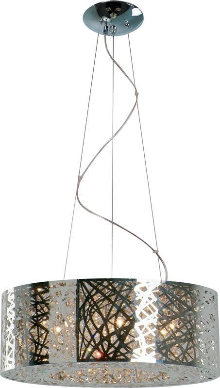 Et2 inca 9 light pendant polished chrome e21308 10pc lampsusa 24w inca 9 light pendant polished chrome mozeypictures Choice Image