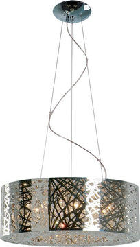 "24""W Inca 9-Light Pendant Polished Chrome"