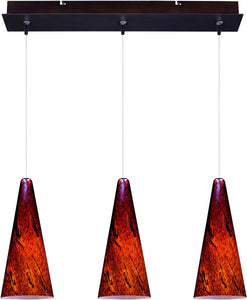 ET2 Lava 3-Light Linear Pendant Bronze E94829102BZ