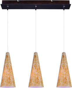 Lava 3-Light Linear Pendant Bronze