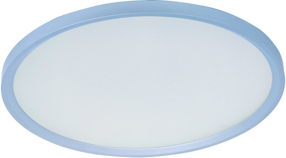 "20""W Moonbeam 1-Light Flush Mount Metallic Silver"