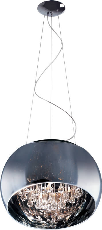 "16""w Sense 5-Light Pendant Polished Chrome"