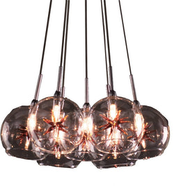 ET2 Starburst 7-Light Pendant Satin Nickel E2011425