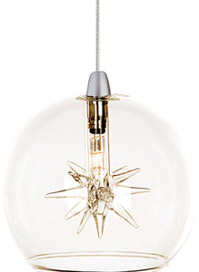 "4""w Starburst Xenon 1-Light RapidJack Pendant White"