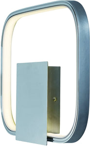 Squared LED Wall Sconce Polished Chrome