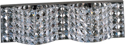 "18""w Wave Xenon 2-Light Bath Vanity Polished Chrome"