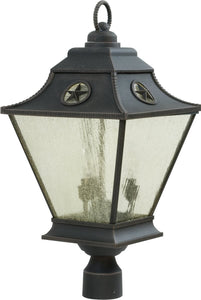 Exteriors Chaparral 3-Light Outdoor Post Rust Z141507