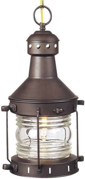 "9""w Nautical 1-Light Outdoor Pendant Burnished Copper"